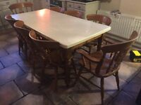 8 Seater Kitchen Table and 8 Chairs