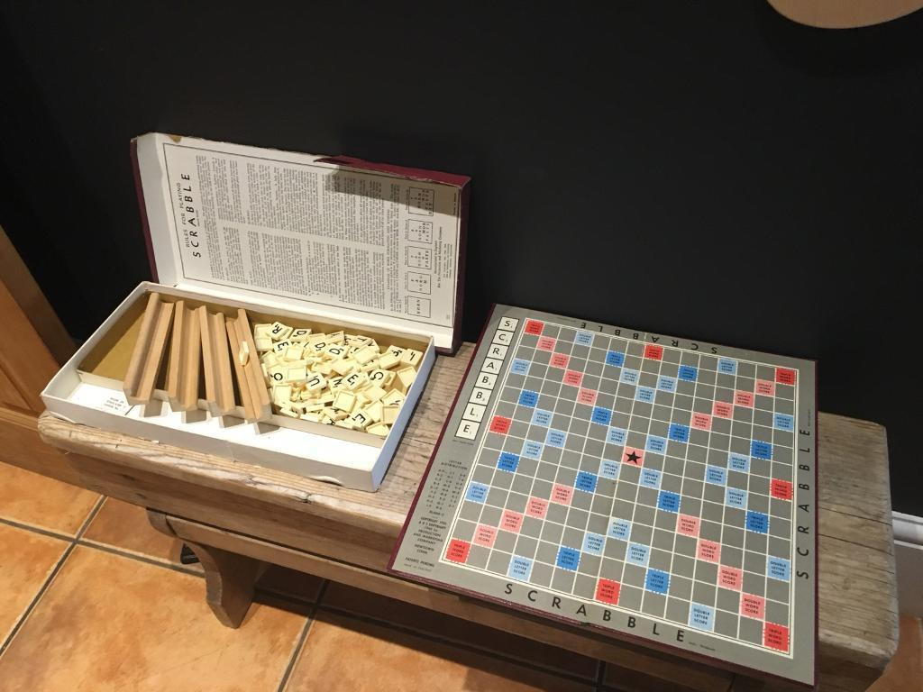 Vintage Scrabble Board Game Toy Christmas