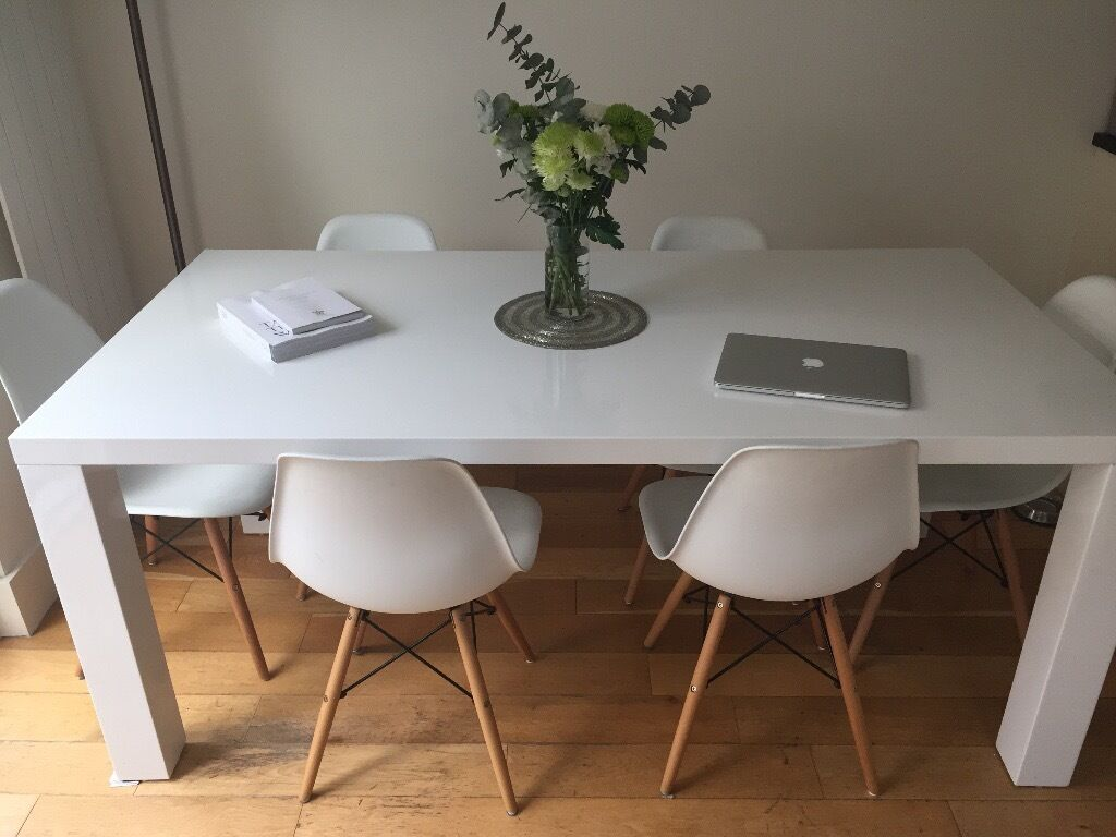 White Gloss Dining Table Part 13
