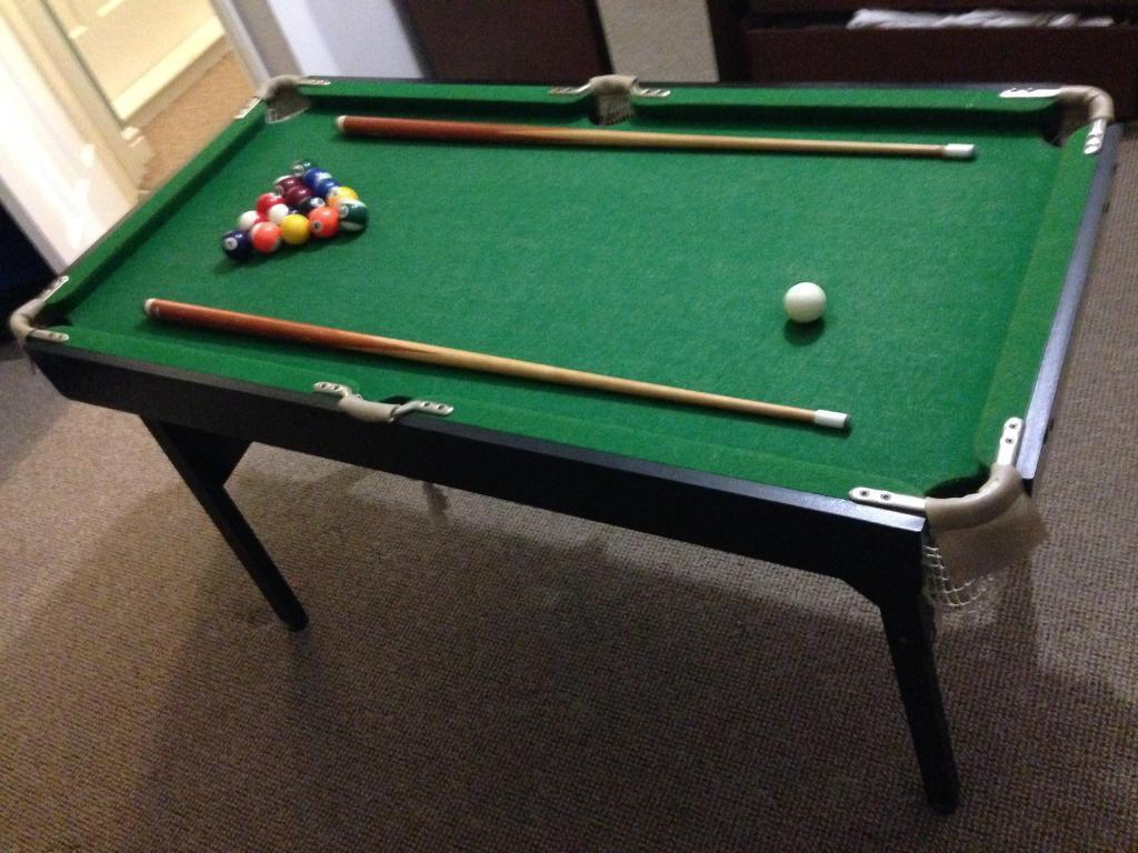 Beau 4 Foot Pool U0026 Snooker Table