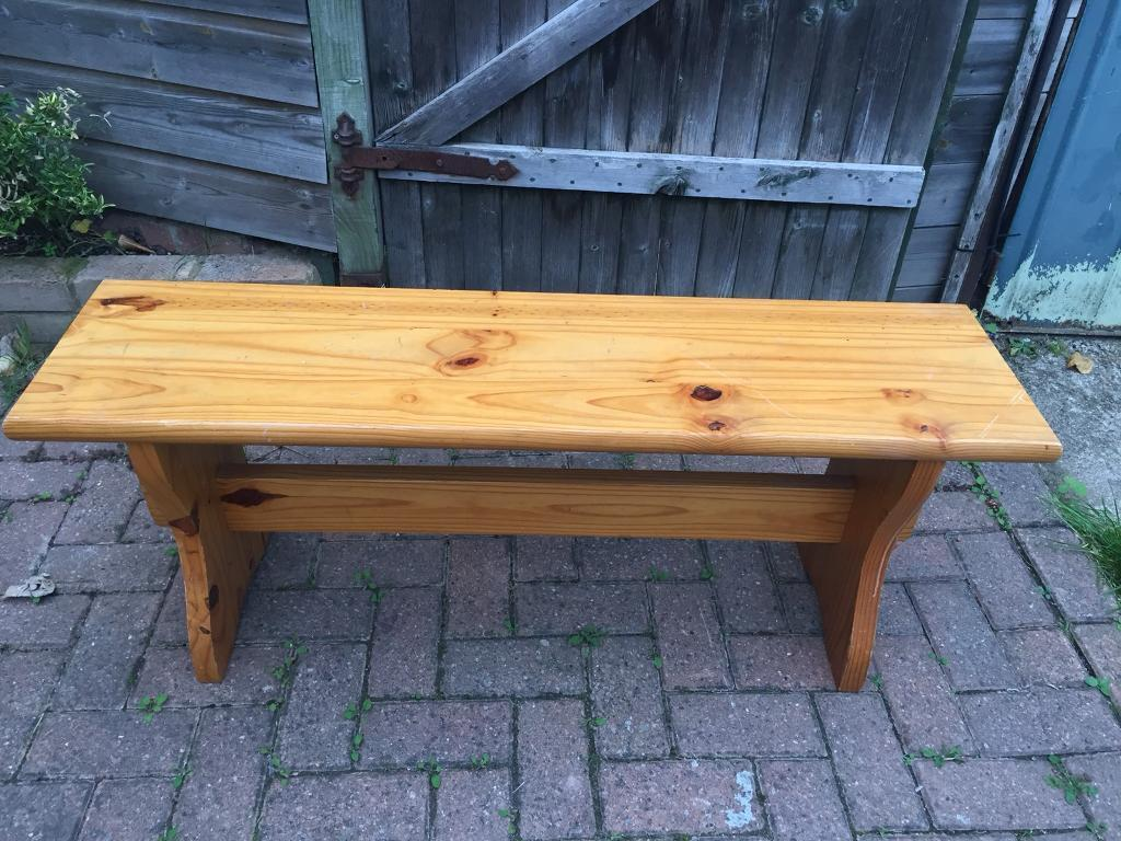 Wonderful Solid Pine Dining Bench Can Be Upcycled