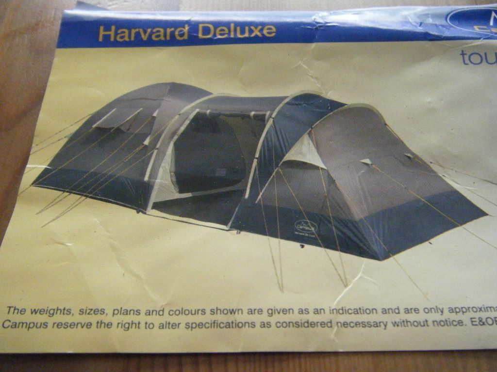 6 Man C&us Harvard Delexe Tent & 6 Man Campus Harvard Delexe Tent | in Christchurch Dorset | Gumtree