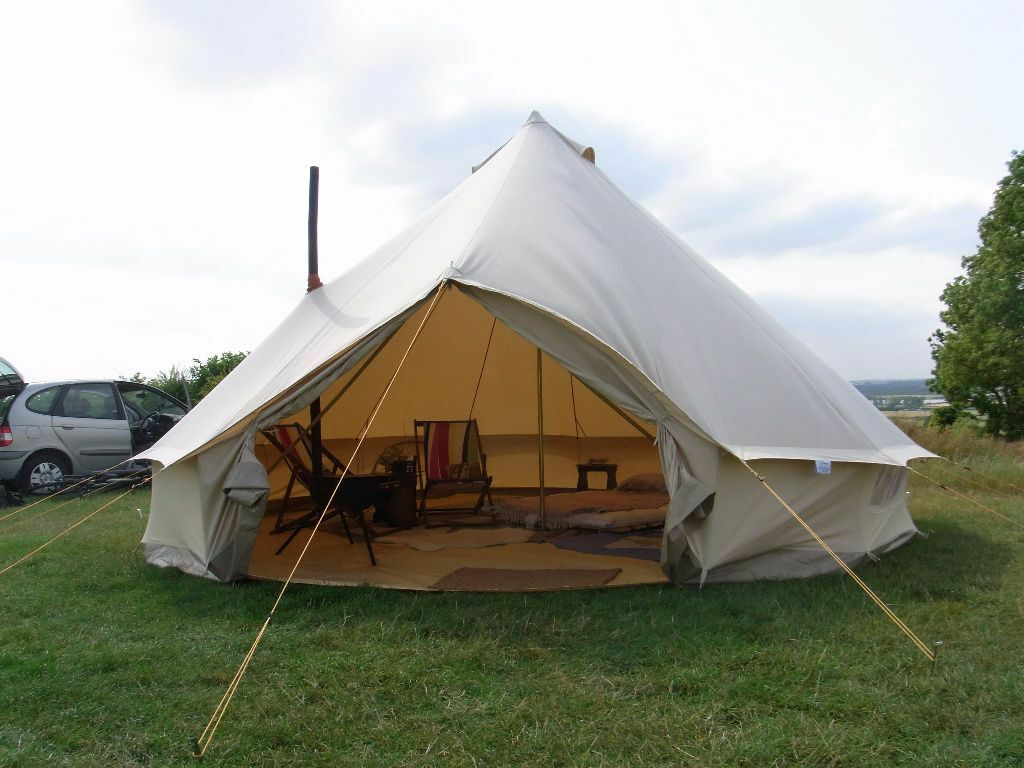 5 Meter Canvas Soulpad Bell Tent with Frontier Stove - Used Once & 5 Meter Canvas Soulpad Bell Tent with Frontier Stove - Used Once ...