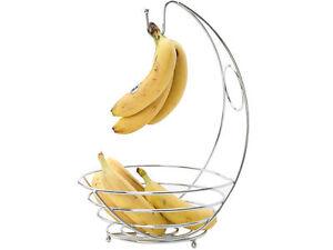 kabalo chrome banana hanger tree holder fruit hammock storage bowl stand hook banana hanger  food  u0026 kitchen storage   ebay  rh   ebay co uk