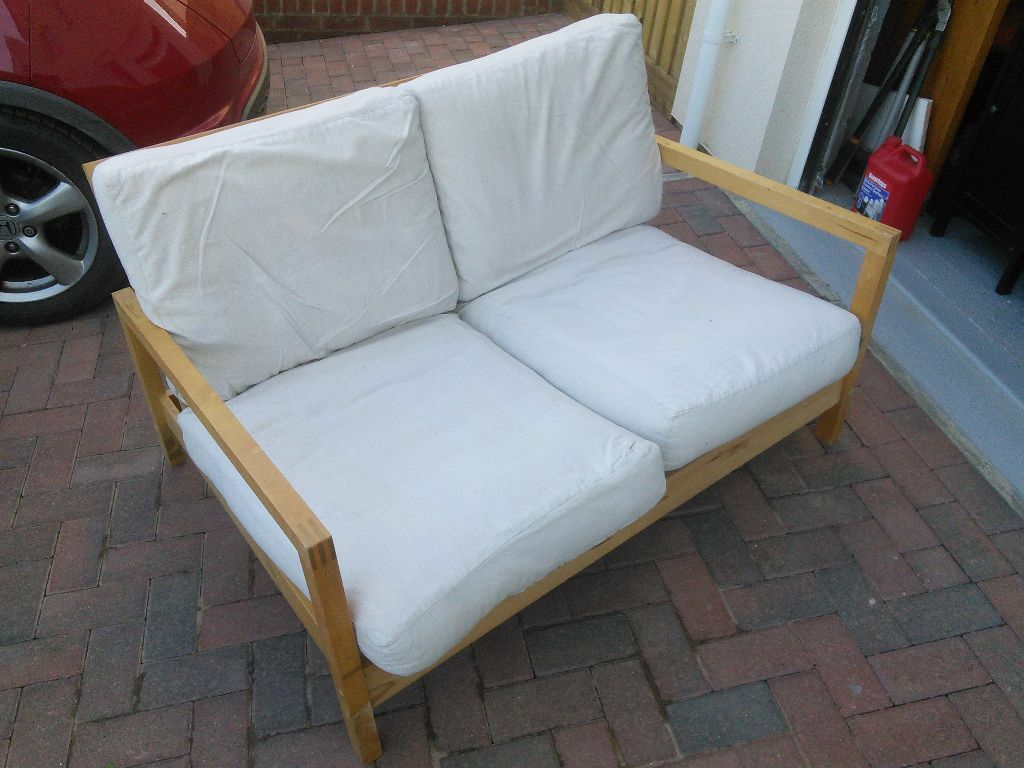 Ikea 2seater Wooden Reclining Sofa In Kingsteignton Devon Gumtree