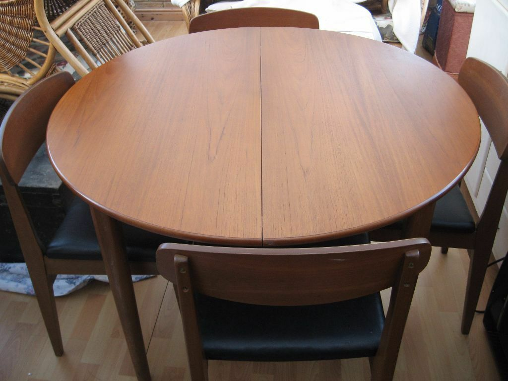 Genial Vintage Retro Beautility Teak Round Extendable Dining Table U0026 4 Chairs In  Very Good/Excellent