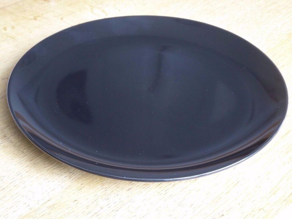 IKEA FARGRIK Black Dinner Plates 27 cm - only 80p each - 51 available & IKEA FARGRIK Black Dinner Plates 27 cm - only 80p each - 51 ...