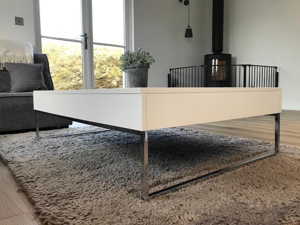 White Gloss Coffee Table   BoConcept Chiva Functional Coffee Table With  Storage | In Newquay, Cornwall | Gumtree