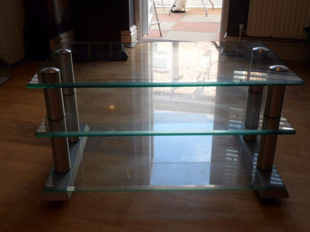 Spectral Glass /Chrome Coffee Table/TV Stand