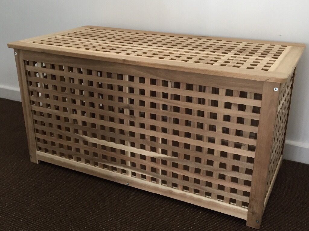 IKEA wooden storage chest/box. Excellent condition. Will disassemble for collection if required & IKEA wooden storage chest/box. Excellent condition. Will disassemble ...