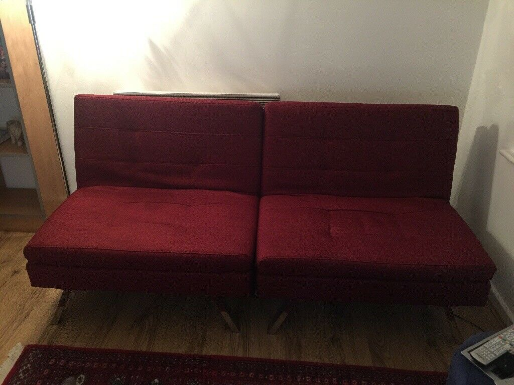 argos hygena duo sofa bed red 2 months old argos hygena duo sofa bed red 2 months old   in edge hill      rh   gumtree