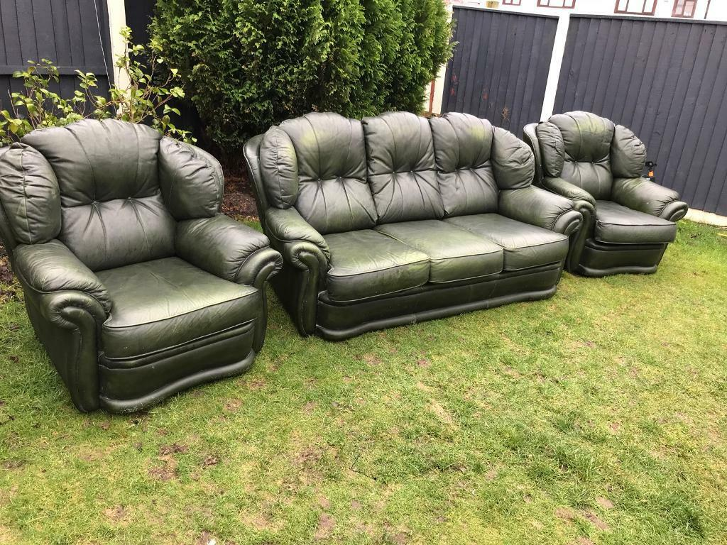 Green Leather Traditional Chesterfield Sofa Suite Can Deliver Awesome Ideas