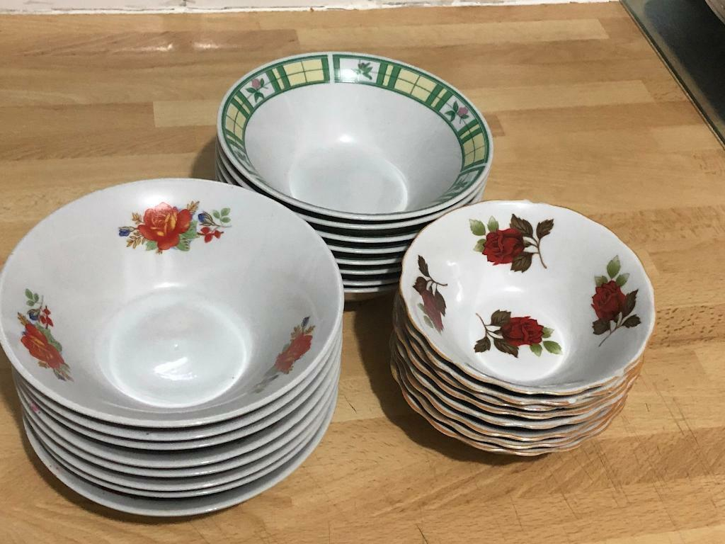 3 different types of soup bowls/plates 24 pieces 8 in each & 3 different types of soup bowls/plates 24 pieces 8 in each | in ...