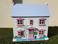 Big Jigs   Rose Cottage   Wooden Dolls House, Furniture And Flexible Dolls