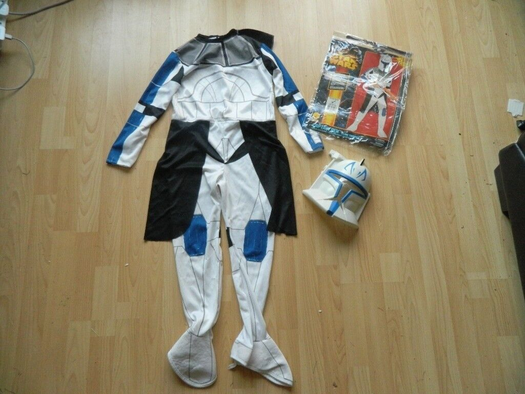 Boys Star Wars Captain Rex Clone Trooper Costume Medium (5-7yrs) & Boys Star Wars Captain Rex Clone Trooper Costume Medium (5-7yrs ...
