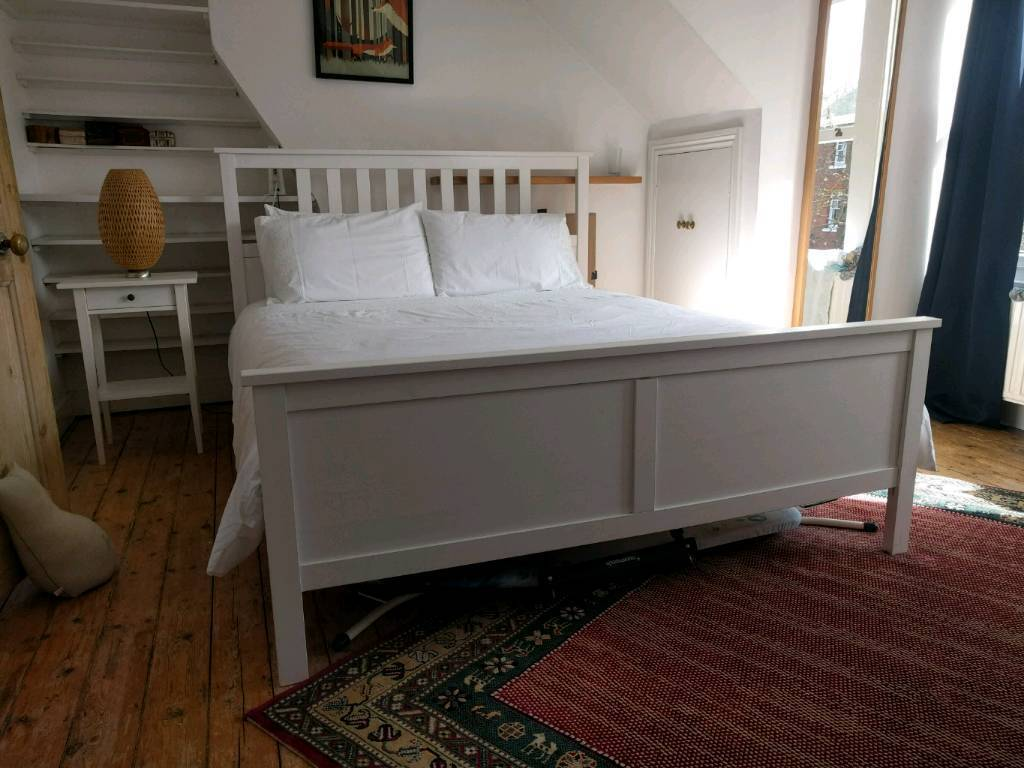 Merveilleux King Size IKEA HEMNES Bed + Sultan Mattress