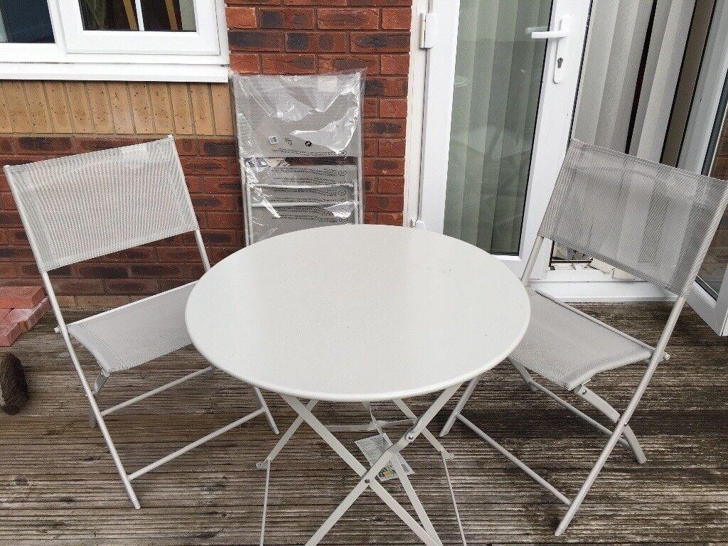 Grey Blooma Saba Garden Bistro Furniture Set