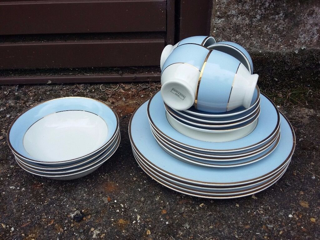 Royal Doulton Bruce Oldfield Duck Egg Blue Dinner and tea service & Royal Doulton Bruce Oldfield Duck Egg Blue Dinner and tea service ...