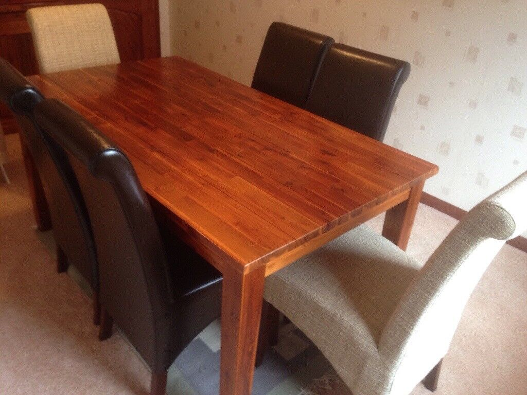 Exceptional Dining Room Table And 6 Chairs, Made By Morris Furniture Glasgow. Excellent  Condition.
