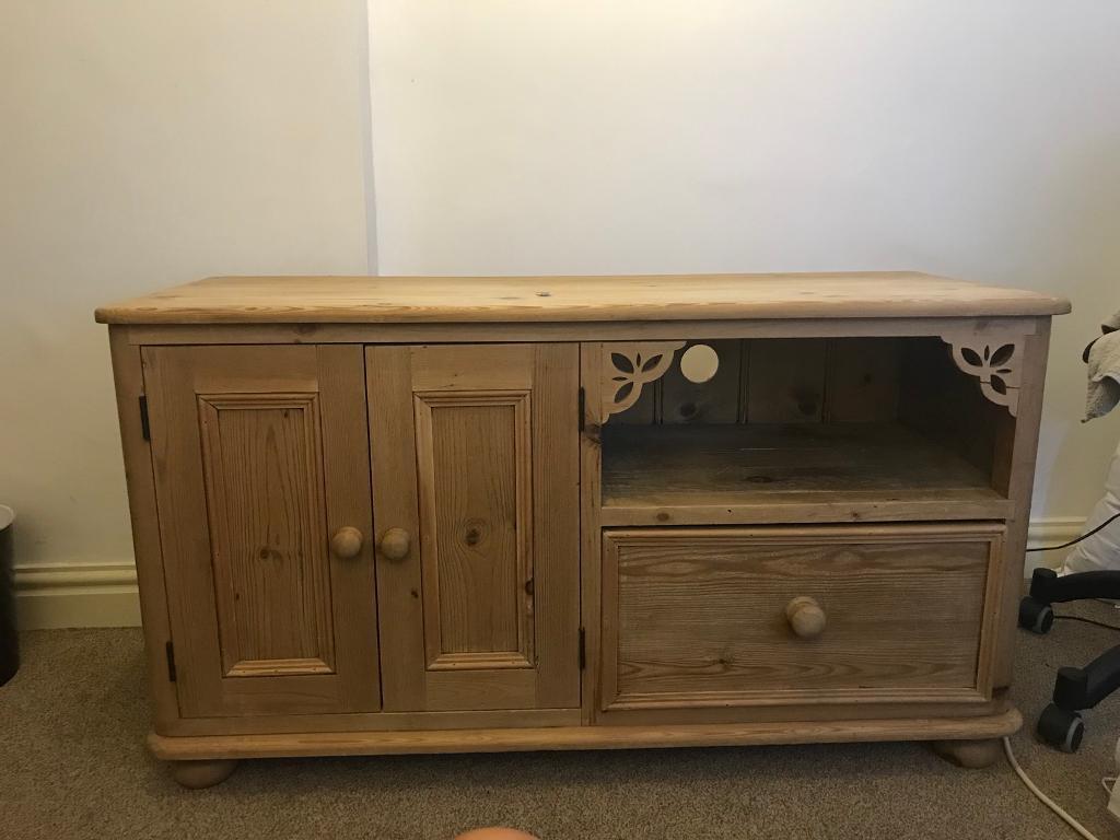 Superieur Solid Pine Tv Cabinet
