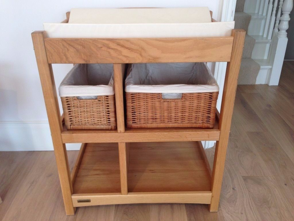Mamas And Papas Solid Pine Wood Changing Unit With Baskets