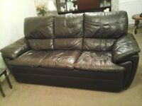 3 seater leather sofa non-recliner & Leather recliner in Aberdeen | Sofas Armchairs Couches u0026 Suites ... islam-shia.org