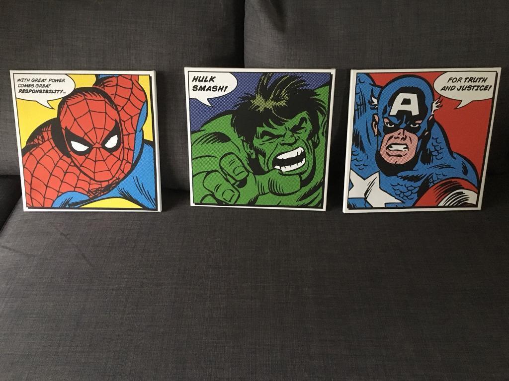 Marvel Superhero Wall Art