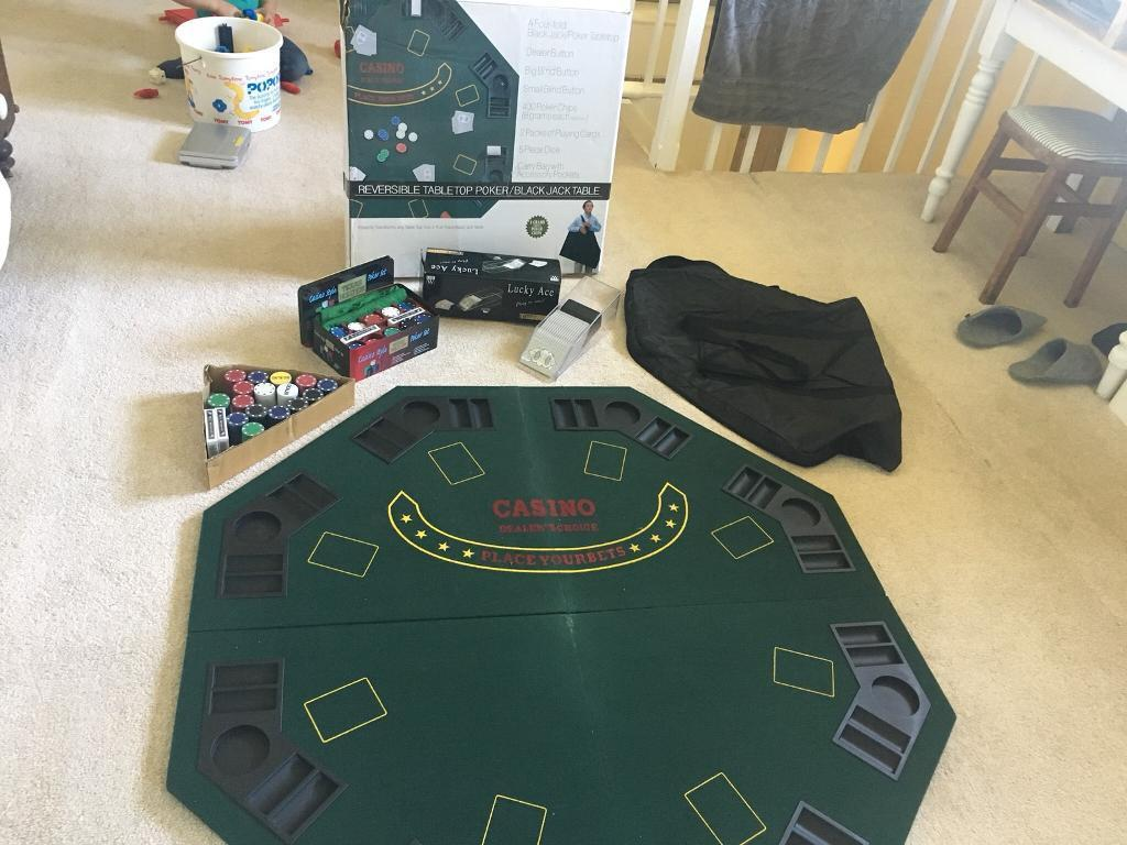 Poker table top set casino & Poker table top set casino | in Shepton Mallet Somerset | Gumtree