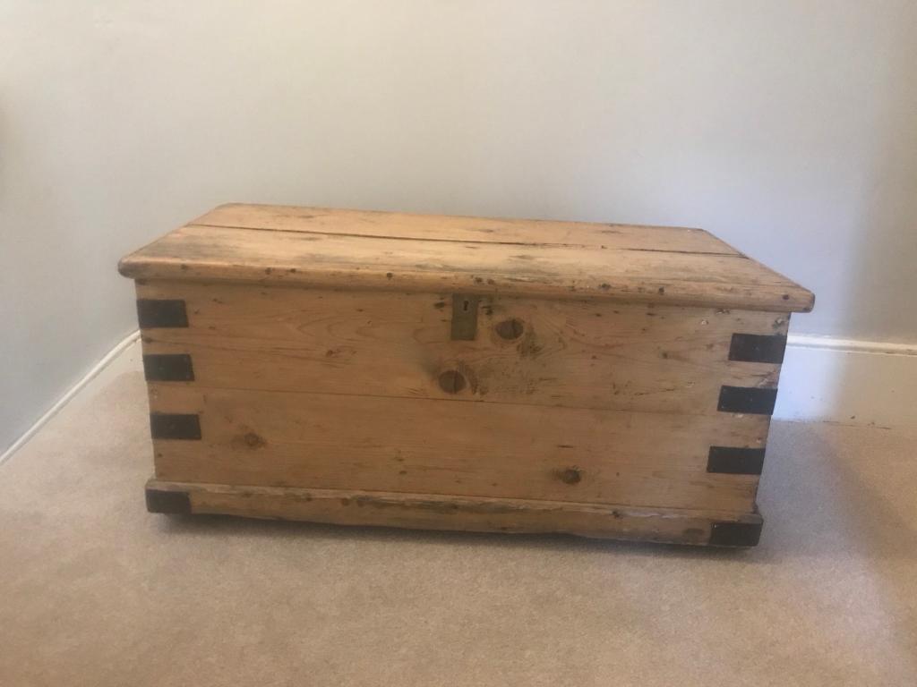 Incroyable Vintage Storage Chest Retro Antique Classic Trunk Wooden