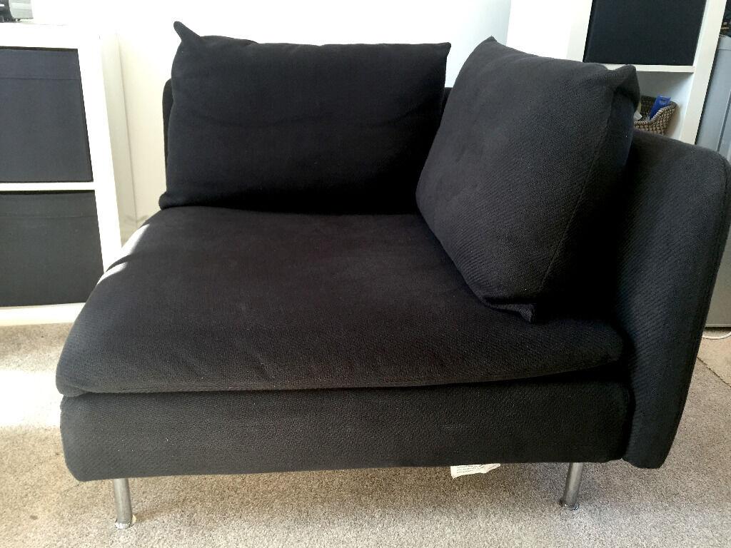 Gentil Ikea SÖDERHAMN Sofa Corner Section / Chair U2013 Black £50