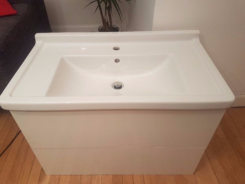 White Duravit Starck 3 Basin And L Cube Unit Worth £730