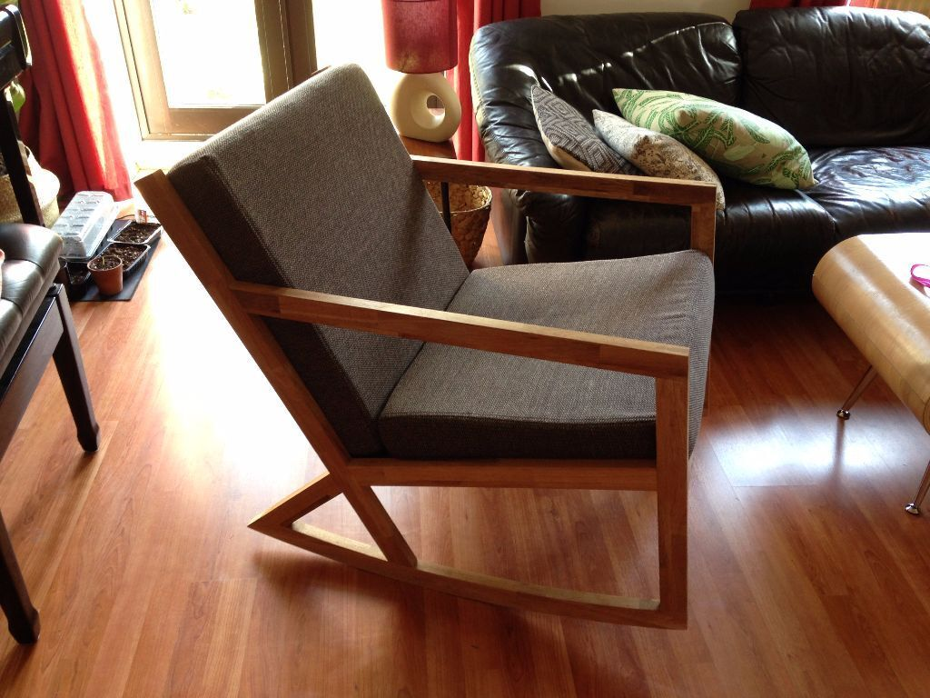 Futon Company Oak Rocking Chair Vgc Bought 4 Months Ago