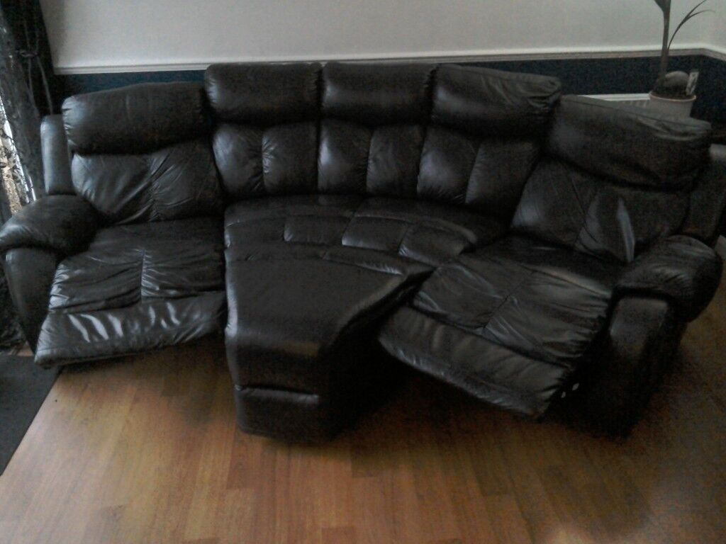 Leather 4 Seater Recliner Sofa