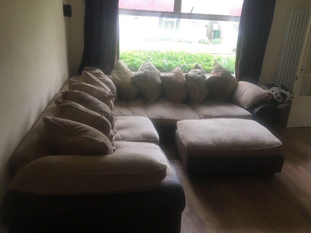 Large DFS Martinez Corner Sofa With Footrest