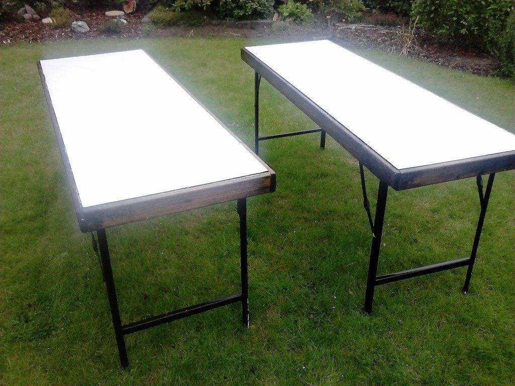 2 X Vintage Folding Market Stall Tables (6 Foot Long X 2 Foot Wide)