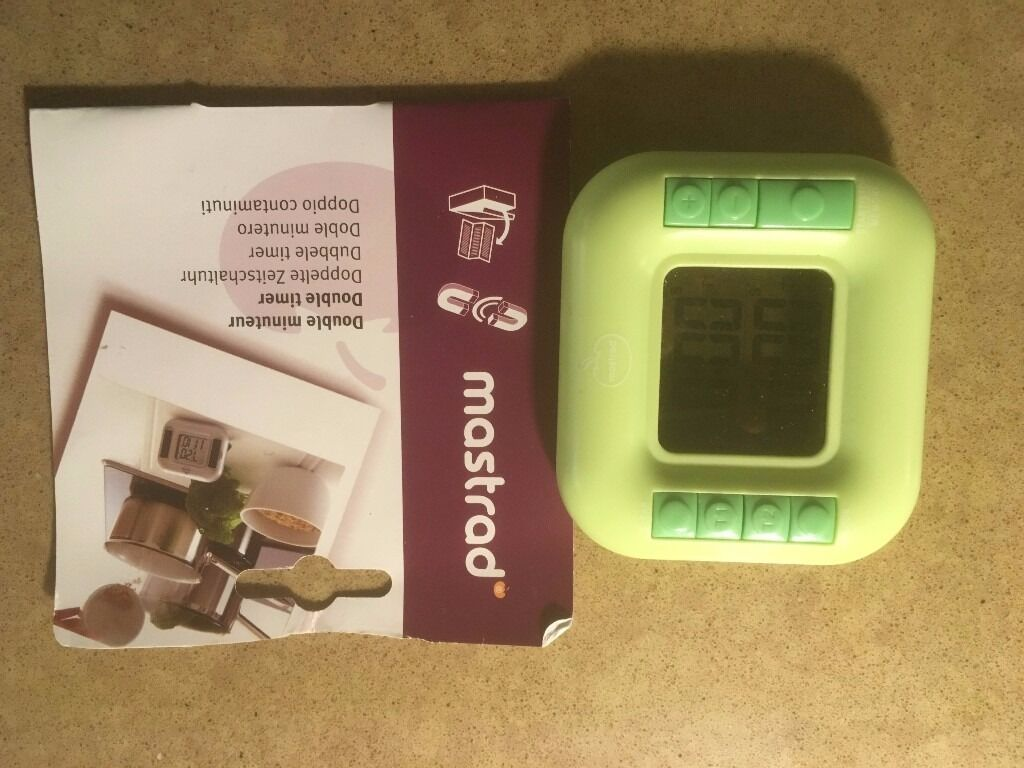 Mastrad Dual Kitchen Timer And Stopwatch