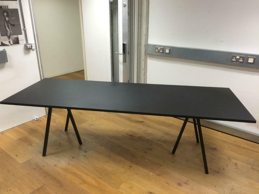 Hay Loop Stand Table Black Ash Danish Design Contemporary