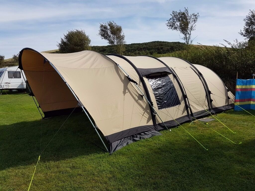 Outwell Alamosa 6ATC Polycotton Air Tent in Excellent Condition comes with Footprint Groundsheet & Outwell Alamosa 6ATC Polycotton Air Tent in Excellent Condition ...
