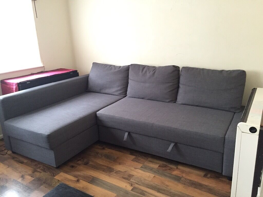 Exceptionnel IKEA FRIHETEN Corner Sofa Bed With Storage, Skiftebo Dark Grey