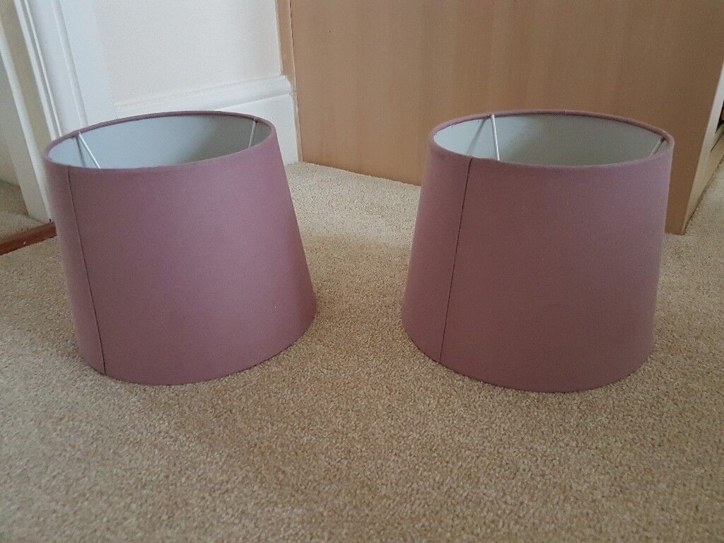 2 X Mauve/Purple Lamp Shades