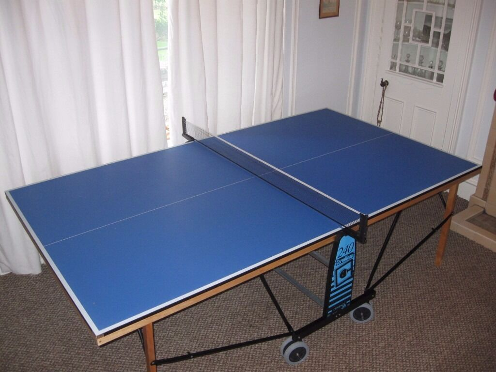 Blue Folding Ping Pong Table Tennis Indoor Portable Cornilleau Compact 240
