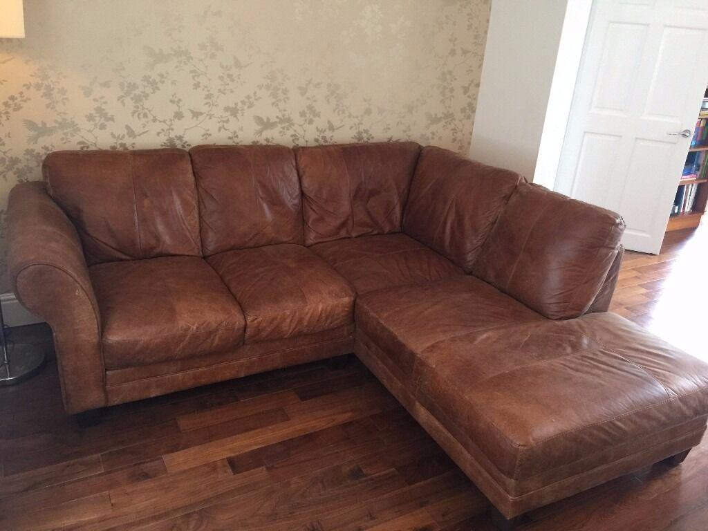 Leather Corner Sofa (DFS Savoy) Beautiful Sofa In Perfect Condition