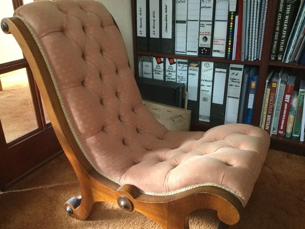 Antique Victorian Slipper Chair