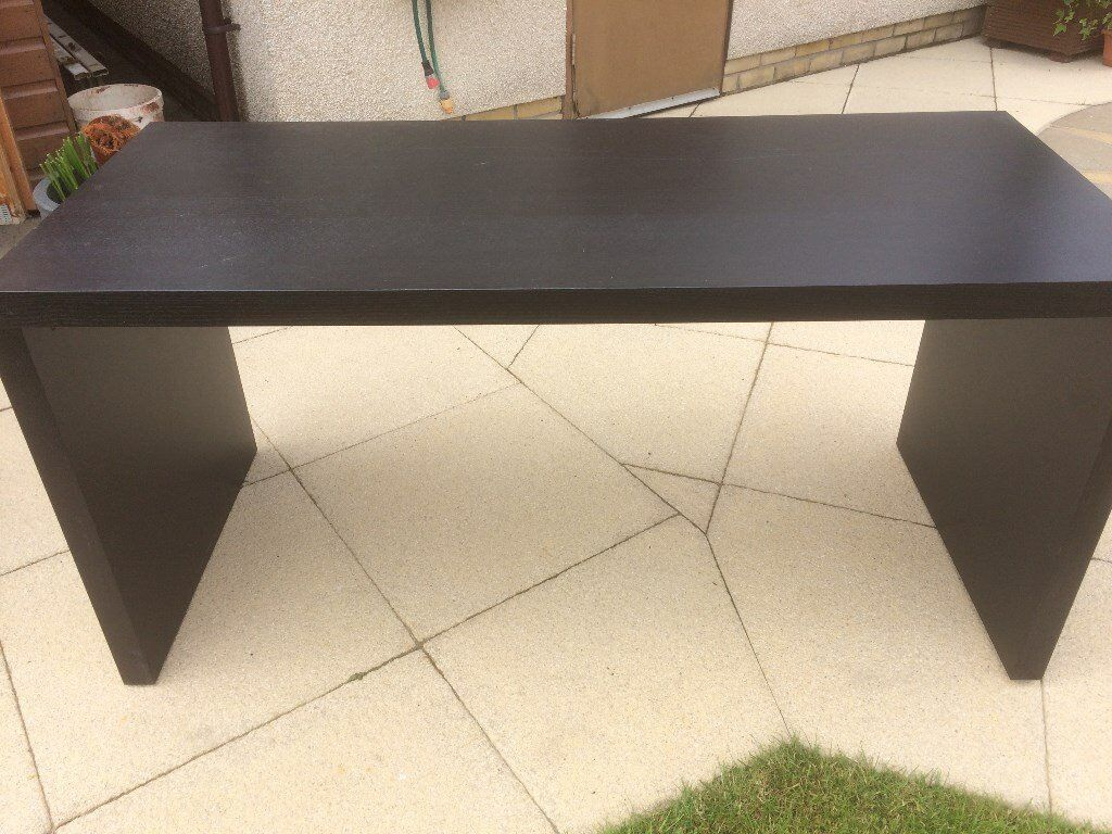 Ikea Desk/table MALM Black Brown (No Pull Out Panel) W: