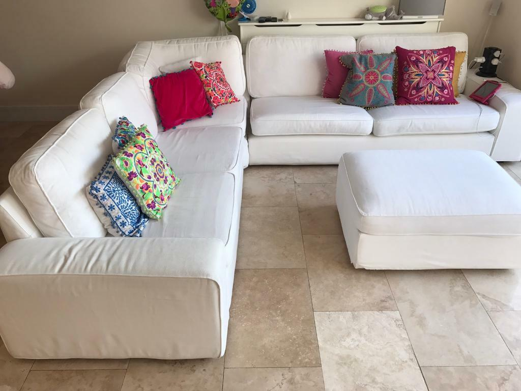 Bon Ikea Kivik Corner Sofa 2+3/3+2 Couch Sectional In White