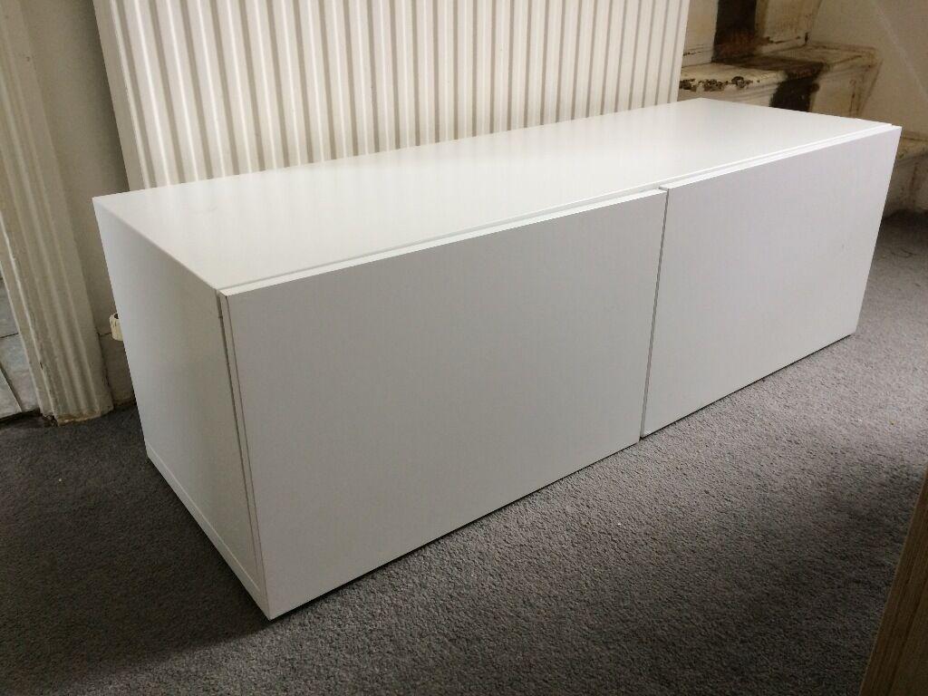 IKEA Besta Shelf Unit With Doors In White