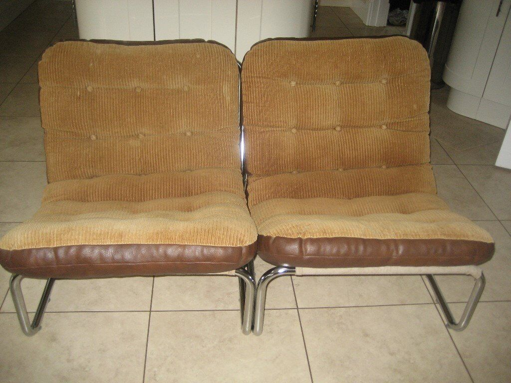 Pair Of Vintage Retro Lounge Chairs NOW REDUCED