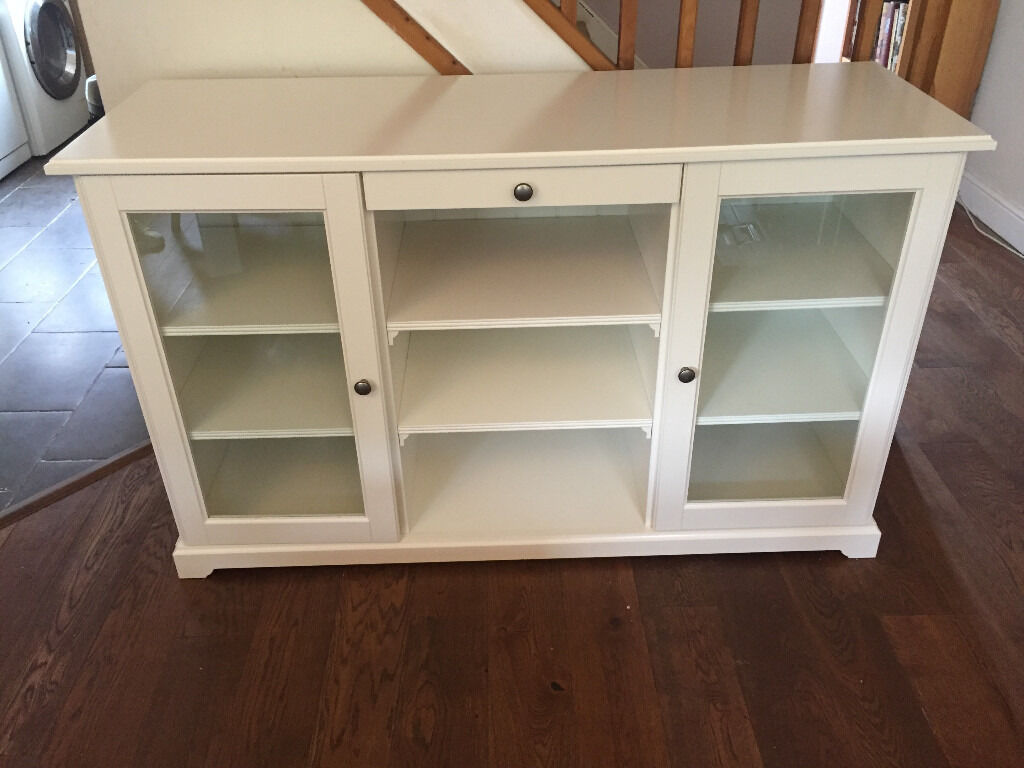 Liatorp ikea liatorp glass door cabinet an unfurnished for Liatorp bookcase hack