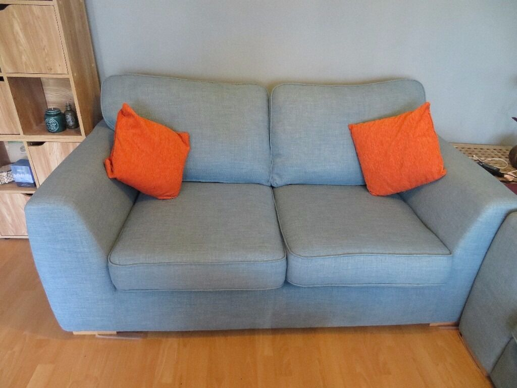 2 And 3 Seat DFS Sofa (Zapp Sky Blue)