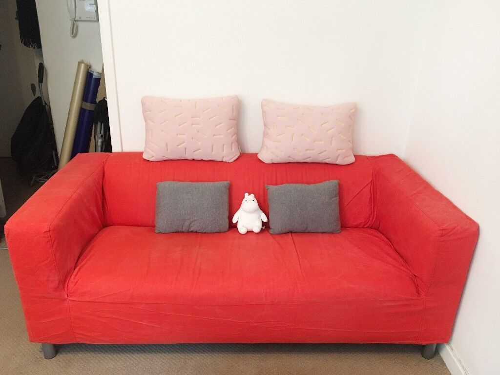 IKEA SOFA KLIPPAN Two Seat, Red